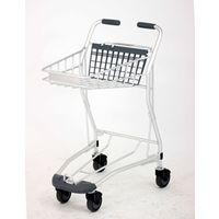 スーパーメイト アルミ製カゴ2個載せショッピングカート AC-705MA 1台(直送品)