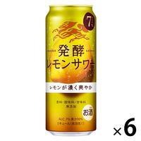 レモンチューハイ 発酵レモンサワー 500ml×6本 レモンサワー 缶チューハイ