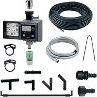 カクダイ 潅水コンピューター (自動散水タイマー) 凍結防止機能つき 水やりホースセット GA-QE009 1セット(直送品)