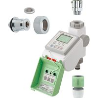 カクダイ ソーラー発電潅水コンピューター (自動散水タイマー) 凍結防止エレメントつき GA-QE013 1セット(直送品)