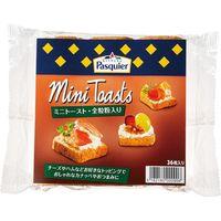 日仏貿易 【ブリオッシュ・パスキエ】ミニトースト・全粒粉 80g B1-04 24個(直送品)