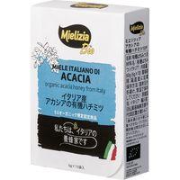 日仏貿易 【ミエリツィア】イタリア産アカシアの有機ハチミツ ブスティーネ10P【オーガニック】 C8-54 24個(直送品)