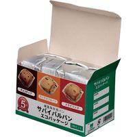 ミドリ安全 サバイバルパン エコパッケージ 3味セット 10箱/ケース 4082112776 1ケース(10箱)(直送品)