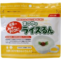 まつや 非常食 ライスるん 白米+ホタテ貝カルシウム入 48袋入 4082117601 1箱(48袋)(直送品)