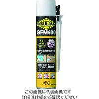 ABC 簡易型発泡ウレタンフォーム 1液ノズルタイプ インサルパック GFM600 600ml フォーム色:ピンク 207-8971(直送品)