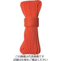 ユタカメイク(Yutaka) ユタカメイク ロープ パイレンカラーロープ 5φ×10m オレンジ A-90 1個(10m) 112-9111(直送品)