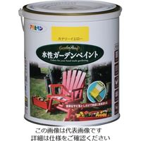 アサヒペン 水性ガーデンペイント 1.6L カナリーイエロー 455970 1セット(6缶) 123-6205(直送品)
