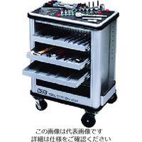 京都機械工具 KTC ツールステーションセット(一般機械整備用)可動式3段トレイ シャッター付 SK7021M 1セット 167-7972(直送品)