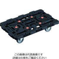 TRUSCO 連結式樹脂製平台車 ビートル 700X450 自在3輪 BT700J3-E100 206-3286(直送品)