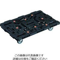TRUSCO 連結式樹脂製平台車 ビートル 900X600 自在5輪 BT900J5-E100 206-3289(直送品)