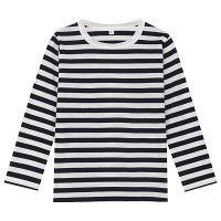 無印 しましま長袖Tシャツ キッズ120