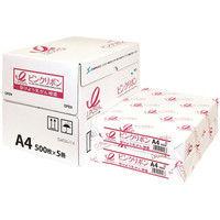 日本製紙 ピンクリボンPPC(コピー用紙) A4サイズ 1箱(2500枚:500枚入×5冊) (取寄品)