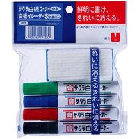 サクラクレパス 白板マーカー中字用4色イレーザーSセット WBK4ES-P (直送品)