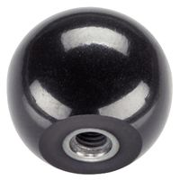 ロームヘルド・ハルダー(ROEMHELD HALDER) ボール・ノブ DIN 319 メネジ付ブッシュ入り 形状E 24560.0140(直送品)