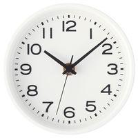 無印良品 アナログ時計・小(スタンド付) 掛置時計・ホワイト 15915217 良品計画
