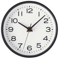 無印良品 アナログ時計・小(スタンド付) 掛置時計・ブラック 15915224 良品計画