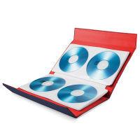 エレコム CD/DVD/Blu-ray対応手帳型メディアケース/マグネット開閉/56枚収納/ネイビー CCD-CB56NV 1個(56枚収納) (直送品)