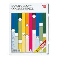 サクラクレパス クーピー色鉛筆18色(スタンダード) PFY18 (直送品)