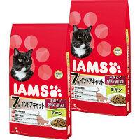 IAMS(アイムス) キャットフード 7歳以上用 インドアキャット チキン 5kg 1セット(2袋) マースジャパン