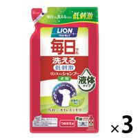 ペットキレイ 毎日でも洗えるリンスインシャンプー愛犬用 詰め替え 400ml 1セット(3個) ライオン商事