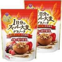 1日分のスーパー大麦グラノーラ 4種の彩り果実 200g 1セット(2袋)