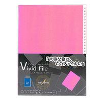 ビビッドファイルリフィル A4 5色アソート 5枚入 VV-BF 5個 エヒメ紙工 (直送品)