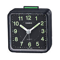 カシオ計算機 クオーツ式小型置き時計 TQ-140S-1JF ブラック 1個 (取寄品)
