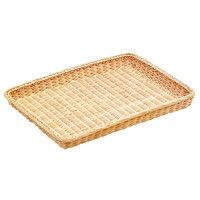 籐製 浅型パンカゴ 40号 16-731W 白 0350700 萬洋 (取寄品)