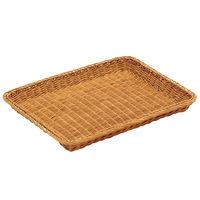 籐製 浅型パンカゴ 40号 16-731B 茶 0350800 萬洋 (取寄品)