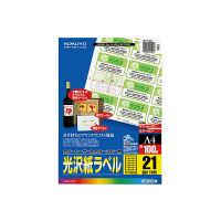 コクヨ(KOKUYO) カラーLBP&PPC用光沢紙ラベル A4 21面36X60 100枚 LBP-G1921 1袋(100シート)53106995(直送品)