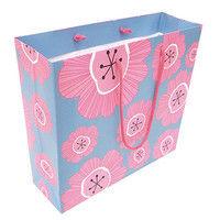 デザイン紙袋L フラワー_ピンク FLP-L 5個 エヒメ紙工 (直送品)