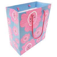 デザイン紙袋M フラワー_ピンク FLP-M 10個 エヒメ紙工 (直送品)