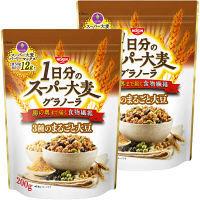 日清シスコ 1日分のスーパー大麦グラノーラ 3種のまるごと大豆 200g 1セット(2袋)