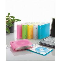 コクヨ(KOKUYO) CD/DVDファイル 22枚収容 ケース付 クリア EDF-CF221T 1セット(5冊) 58947371(直送品)