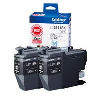 ブラザー インクジェットカートリッジ LC3111BK-2PK ブラック 1パック(2個入)(わけあり品)