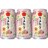 サッポロビール サッポロ ウメカク ソーダ仕立ての梅酒カクテル もも 350ml×6缶