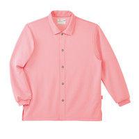 トンボ キラク コンフォートウェア 前開きシャツ CR816 カメリアピンク M 患者衣 1枚(取寄品)