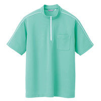 アイトス 半袖クイックドライジップシャツ(男女兼用) CL3000 ミントグリーン 9号 1枚(直送品)