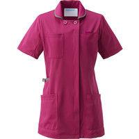 KAZEN(カゼン) レディスジャケット半袖 980 プラム×グレー L 医療白衣 1枚(直送品)