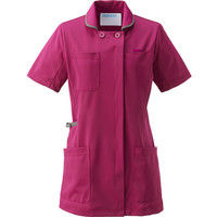 KAZEN(カゼン) レディスジャケット半袖 980 プラム×グレー 4L 医療白衣 1枚(直送品)