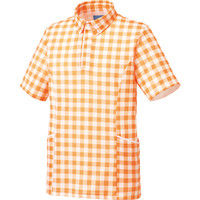 KAZEN(カゼン) ニットポロシャツ KZN230 オレンジ S 医療白衣 1枚(直送品)