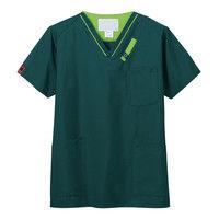 FOLK(フォーク) PANTONE(パントン) スクラブ 7042SC モスグリーン×グリーナリー 4L 医療白衣 1枚(直送品)