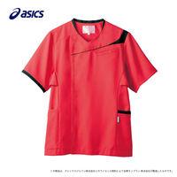 住商モンブラン アシックス ジャケットメンズ CHM854 シャインレッド×ブラック L 医療白衣 1枚(直送品)