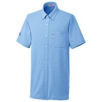 ルコックスポルティフ ユニセックスニットシャツ UZL3064 セーヌブルー 5L 介護ユニフォーム 1枚 (直送品)