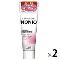 <LOHACO> NONIO(ノニオ) ハミガキ ピュアリーミント 増量143g 1セット(2本) ライオン 歯磨き粉画像