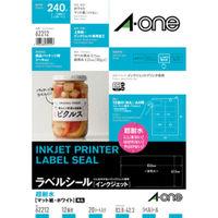 エーワン ラベルシール 超耐水 インクジェット マット紙 白 A4 12面 1袋(20シート入) 62212 (取寄品)(取寄品)