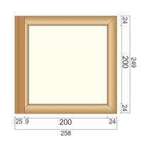 フジタ 突出型木製サイン TWY200 無地 81-2000(直送品)
