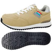 ミドリ安全 JSAA認定 女性用 作業靴 ワーク女子力 プロスニーカー MWJ-110A 24.5cm ベージュ 1足 2125094208(直送品)