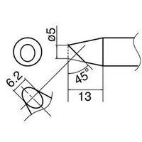 エスコ(esco) φ0.5mm 交換用こて先 (EA304AM用) 1セット(2個) EA304AM-2(直送品)