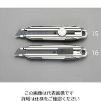 エスコ(esco) 163mm カッターナイフ(オートロック式) 1セット(4個) EA589CY-16(直送品)